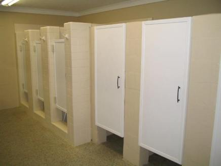 Women's renovated bathroom stalls