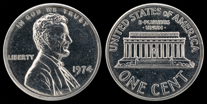US-00010-One_Cent_(1974)_Aluminum